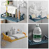 Prateleiras de suporte de prateleira de armazenamento de montagem de parede de sucção Banheiro Prateleira de banho de organizador de cozinha