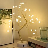 Christmas DIY Tree Light LED USB Touch Copper Wire Night Light for Wedding Party Home Decorations Gifts