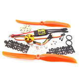 XXD A2212 2212 930KV KV930/1000KV KV1000 Brushless Motor+30A ESC+1060 Prop Blade Propeller RC Power System Combo for RC Drone Airplane Support 2s-4s