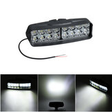 12V 16 LED Motorcycle Front Headlights Spotlight Shark Shape Driving Work Spot Light