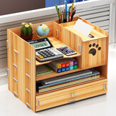32.5x22.5x26 cm Pen Pen Holder Storage Caixa Rack Desk Stationery Stationery Stationery Density Plate Organizer Desktop