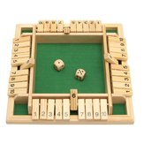 En bois traditionnel à quatre faces 10 numéros Pub Bar Board Dice Party Funny Game Toys