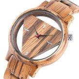 Deffrun Transparent Creative Wooden Wrist Watch