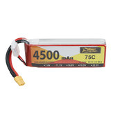 ZOP Power 11.1V 4500mAh 75C 3S Lipo Battery XT60 Plug for RC Drone Car Boat Helicopter Airplane