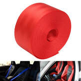 6 Meter 47mm Wide Seat Belt Strap Polyester Fiber Cloth Webbing Red Color Break Strength 2500KG
