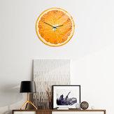 Loskii CC093 Kreatywny pomarańczowy zegar ścienny Wyciszony zegar ścienny Kwarcowy zegar ścienny do dekoracji wnętrz biurowych