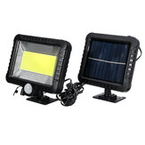 IPRee® COB 100LED 30W 600Lumen IP65 Lâmpada solar Outdoor Park Yard Garden Light Camping Light Work Light