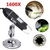 1600X 8LED 2MP USBズームデジタル顕微鏡ハンドヘルド生物カメラ
