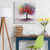 Encadré Colorful Arbre Abstrait Print Art Peintures À L'huile Picture Home Decor