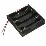 4 AA Battery Box Holder Case Storage Standard Slot Clip For 4 Pack Batteries