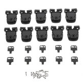 10Pcs/Set Spa Hot Tub Cover Broken Latch Repair Kit Clip Lock Key and Hardware with Screw