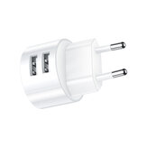 USAMS 2.1A Dual USB Port Fast Charging EU Plug Travel Charger Adapter For iPhone X XS Oneplus 7 XIAOMI MI8 MI9 S10 S10+
