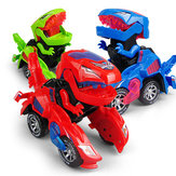 HG-788 Electric Deformation Dinosaur Chariot Deformed Dinosaur Racing Car Children's Puzzle Toys with Light Sound