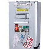 5 Camadas De Ferro Montagem Na Parede Cozinha Congelador Porta Spice Rack De Armazenamento Prateleira Gabinete Organizador Titular Geladeira