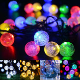21ft Solar Powered String Lights 30 Crystal Balls Outdoor Home LED Fairy Lights Decorations