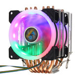 CPU Cooler 6 Heatpipe 4-Pin RGB 2x Cooling Fan For Intel 775/1150/1151/1155/1156/1366AMD