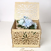 Wooden Wedding Wishing Card Post Box with Lock  Gift Card Wishing Boxes Party