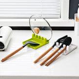 Practical Kitchen Silicona Portacuchillas resistente al calor Utensilio para reposapiés herramienta