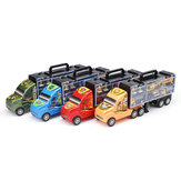Alloy Trailer Container Car Storage Box Diecast Car Model Set Toy for Children's Gift
