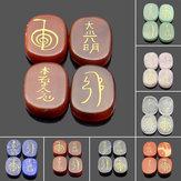 4 SZTUK Grawerowane Usui Reiki Symbol Uzdrawianie Energia Sanskryt Kryształ Palmowy Zestaw Kamiennych Dekoracji Kamiennych
