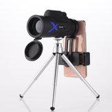IPRee® 12X50 wasserdichtes, monokulares, optisches HD-Objektiv, tragbares Teleskop + Handy-Clip + Teleskophalterung