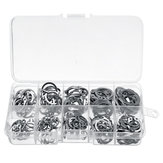 200Pcs Boxed 304 Stainless Steel Shaft with Circlip Ring C-type Circlip M8-M18