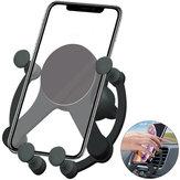 Bakeey 10W Wireless Charger Gravitasi Linkage Air Vent Car Phone Holder untuk Ponsel Pintar 5.0-6.7 Inch