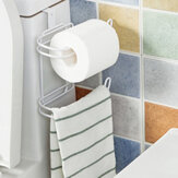 Toilet Roll Paper Holder Door Back Hanging Towel Roll Tissue Rack Kitchen Cupboard Paper Storage