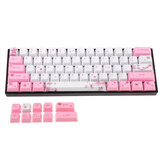 MechZone 71 Keys Sakura Keycap Set OEM الملف الشخصي PBT Sublimation Keycaps for 60٪ Anne pro 2 Royal Kludge RK61 Geek GK61 GK64 لوحة مفاتيح ميكانيكية