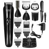 12 in 1 Mens Electric Hair Cutter Clipper Rechargeable Beard Shaver Razor Nose Trimmer Set