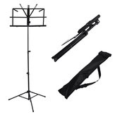 Foldable Aluminum Alloy Guitar Stand Holder Music Sheet Tripod Stand Height Adjustable with Carry Bag for Musical Instrument