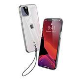 Baseus Custodia protettiva trasparente trasparente in TPU Soft con cordino per iPhone 11 Pro 5.8 Pollici