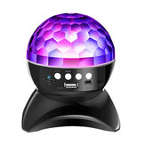Inalámbrico bluetooth Crystal Magia Altavoz de bola Colorful Etapa giratoria RGB LED Proyector Luz 1500 mah para KTV Dance Bar