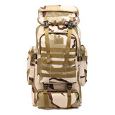 DROW 80L Camouflage Nylon Water Proof Oxford Fabric Outdoor Bag Backpack for Climbing Hiking Outdoor