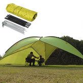 210T Poliéster Triângulo Abrigo Barraca de acampamento ao ar livre Praia Dossel UV Máscara solar com armazenamento Bolsa