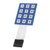 10 adet 4x3 Matris Dizisi 12 Tuş Tuş Takımı Klavye Mühürlü Membran 4 * 3 Düğme Pedi ile Etiket Anahtarı