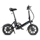 [EU Direct] FIIDO D3 36V 250W 5.2Ah 14 Inches Folding Moped Bicycle 25km/h Max 35KM Mileage Mini Electric Bike