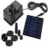 7V/1.5W Solar Panel Powered Water Pond Pump 6V/1.1W Home Garden Submersible Floating Fountains Pump