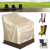 Waterproof Single High Back Chair Covers Protector Outdoor Patio Furniture Protection