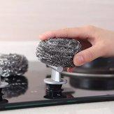 QUANGE 6PCS / Set Reinigung Stahlkugel Langlebiges Küchenreinigungswerkzeug Haushaltsgeschirrspülbürste Topfbürste Dekontaminationsreinigungswerkzeug Von