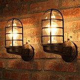 خمر الصناعية الفريدة الجدار مصباح الحديد ريفي النحاس steampunk مصباح الشمعدان