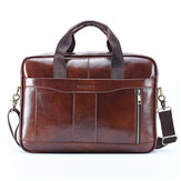 Men Genuine Leather Handbag Croddbody Business Bag