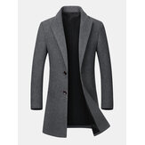 Heren Business Casual wollen Mid-lange slim fit trenchcoat
