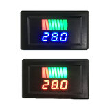 12-60V Car Chumbo-ácido Bateria Indicador de nível de carga Bateria Testador de lítio Bateria Medidor de capacidade Voltímetro digital duplo LED testador