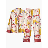 Autumn Cotton Long Sleeve Leisure Pajama Sets