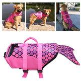 العالمي الكلب الحياة سترة الحيوانات الأليفة ملابس السباحة تعويم معطف السلامة الصدرية حورية البحر سترة