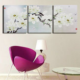 3 stks Frameloze Magnolia Canvas Foto Wall Art Home Print Foto Afdrukken Set Voor Home Decorations