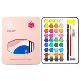 Lighting & Micro 36 couleurs Aquarelle Pigment Set Aquarelle Solide Outils de peinture Étudiants Fournitures Art-School peintes à la main