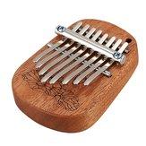 GECKO K8mini / K-8CM / K-8CA 8 klíčový kafr / mahagon mini kalimbas palcový klavír s laděním Hammer