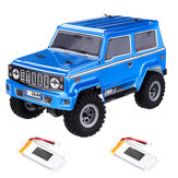 URUAV 1/24 Mini RC Car Crawler with Two Batteries 4WD 2.4G Waterproof RC Vehicle Model RTR for Kids and Adults